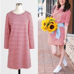 J. Crew Striped Ponte Dress
